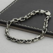sterling silver necklace styles images Mens sterling silver anchor chain style necklace jpg