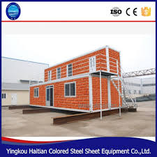 double layer open air balcony luxury ship container house prices