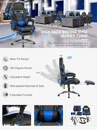 amazon com langria computer gaming chair faux leather racing