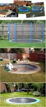 safe and cool a sunken trampoline for kids kids outdoor play