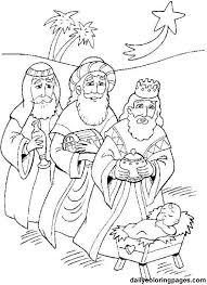 wise men christmas coloring coloring