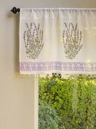 lavender french provence valance delicate beaded valance