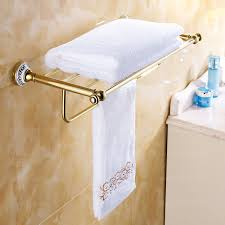 Ceramic Bathroom Shelves Polished Brass Ceramic Vintage Gold Bathroom Shelves 108 99