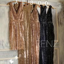 mix and match bridesmaid dress rose gold black sheath luxury