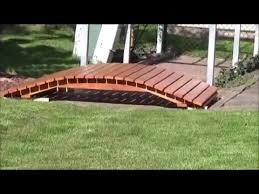 yard bridge how to build a arched garden bridge youtube