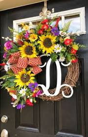 spring wreaths for front door summer initial wreath diy initial wreath front doors and initials