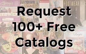 shopping list of 100 free catalogs