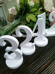 table numbers for wedding free shipping number 1 20 diy 1cm thickness pvc table numbers