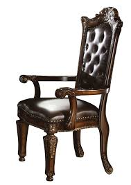 amazon com acme 60004 vendome arm chair cherry finish set of 2