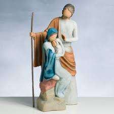 story willow tree large nativity holy family sculpture