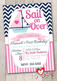 Nautical Theme Birthday Invitations - 9 best navy u0026 pink birthday party ideas images on pinterest
