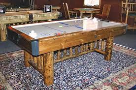 air hockey table over pool table montana log pool table
