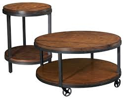 Coffee Table With Wheels Pottery Barn - creative of round industrial coffee table with tanner round coffee
