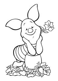 winnie pooh piglet coloring kids free printable pretty