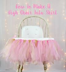 Party Decoration Ideas Pinterest by How To Make A High Chair Tutu Skirt Party Decorations Pink