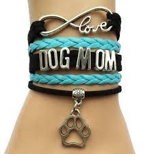 love braided bracelet images Leather braided infinity love dog mom bracelet marbled luck jpg