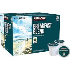 Blend K Cups Kirkland Signature Breakfast Blend Coffee Light Roast 120 K Cup Pods