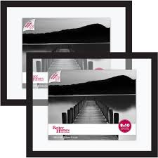 better homes and gardens float picture frame black set of 2