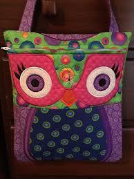 Owl Shoulder - ith machine embroidery design owl shoulder bag pea