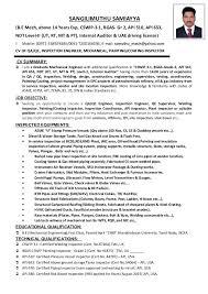 Ndt Resume Sample by Qa Qc Inspector Cv Sample Contegri Com