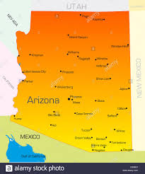 map of the state of usa vector color map of arizona state usa stock photo royalty free