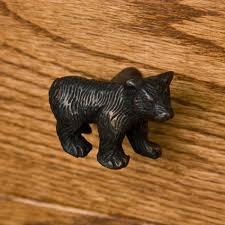solid brass bear cabinet knob hardware