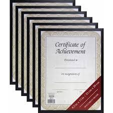 document frame 8 5 x 11 black document frame set of 6 walmart