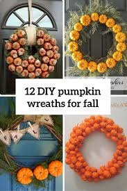 12 diy pumpkin wreaths for fall and thanksgiving shelterness