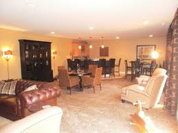 black camel and gold color scheme basement design rebecca