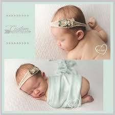 baby girl headband co newborn baby girl headband and wrap photo prop set