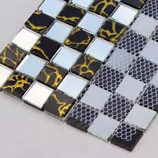 Mirrored Mosaic Tile Backsplash by Glass Tile Backsplash Mirrored Mosaic Designs Mirror Tiles Du203