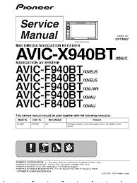 avic f940bt f840bt crt4887 sm laser mp3