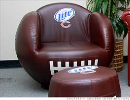 Helmet Chair Football Shaped Chair Cool Gear For Your Super Bowl Party Cnnmoney
