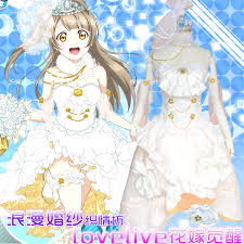 wedding dress anime online shop lovelive minami kotori awaken wedding dress