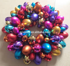 Metal Frame Christmas Decorations by Easter Egg Wreath Decorations With Metal Frame Buy Easter Egg