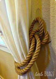 Rope Curtain Tie Back Rope Curtain Tiebacks With A Clever Trick