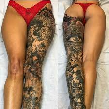 collection of 25 special leg tattoos for