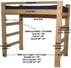 Free Loft Bed Woodworking Plans by Diy Loft Bed Plans Free College Bed Lofts Basic Loft Bed