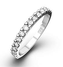 half eternity ring 15 platinum diamond half eternity ring 0 50ct h si