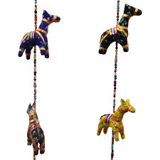 indian traditional handmade horse wall hanging ethnic toran home