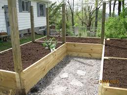 raised bed garden fence design home outdoor decoration