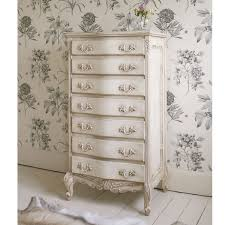 Shabby Chic White Bedroom Furniture Delphine Shabby Chic Antique White Tallboy By The Bedroom