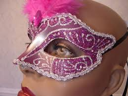 pink mardi gras mask venetian feather mask pink mardi gras mask
