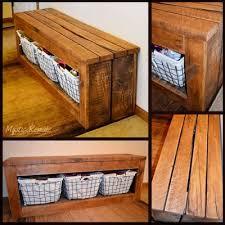 Build A Shoe Bench The Homestead Survival Diy Pallet Wood Shoe Storage Bench Http