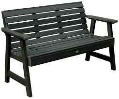 highwood weatherly garden bench durable outdoors rivanna furniture