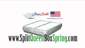 split queen box spring splitqueenboxspring com youtube