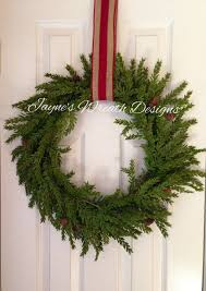 Outdoor Christmas Wreaths by Beautiful Natural Hemlock Wreath Great For Decorating Inside Or