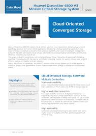 huawei oceanstor 6800 v3 mission critical storage system data sheet