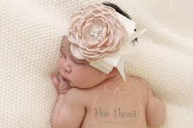 big flower headbands chagne flower headband chagne baby headband