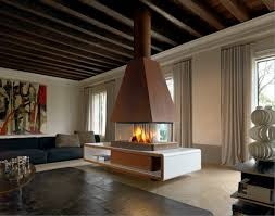 central fireplace layout of great room with central fireplace how